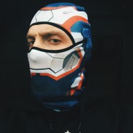 Balaclava Alfa - Iron Man  - Balaclava Alfa - Iron Man Patriot