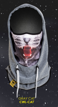 Cowl (hood) Gray Cat