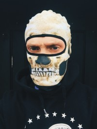 Balaclava Mark Skull Brown
