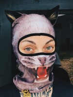 Balaclava Zero Beast - Grey Cat